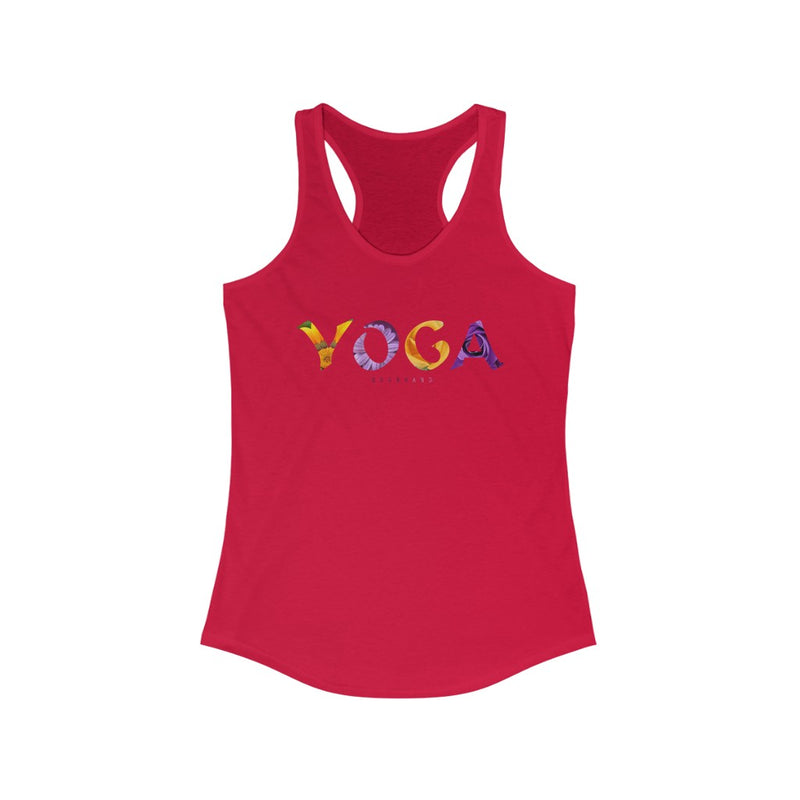 Women's Ideal Racerback Tank Yoga Poses Meditation Grapic Flower