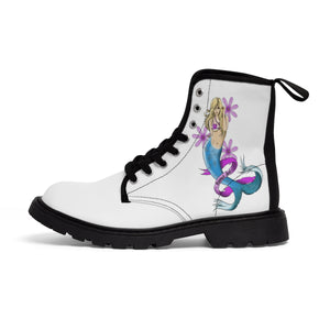 Women's Canvas Boots Tattoo Mermaid Love Gift