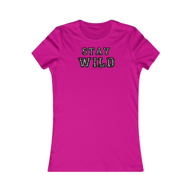 Women's Favorite Tee Stay Wild Zebra Pattern Print Graphic T-shirt