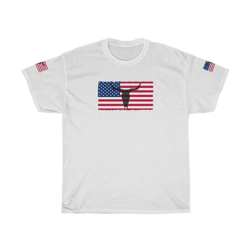 Unisex Heavy Cotton Tee The American The Cow Skull Usa Flag 4th July 2020 T shirt