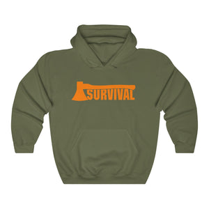 Unisex Heavy Blend™ Hooded Sweatshirt survival axe outdoor nature lover gift