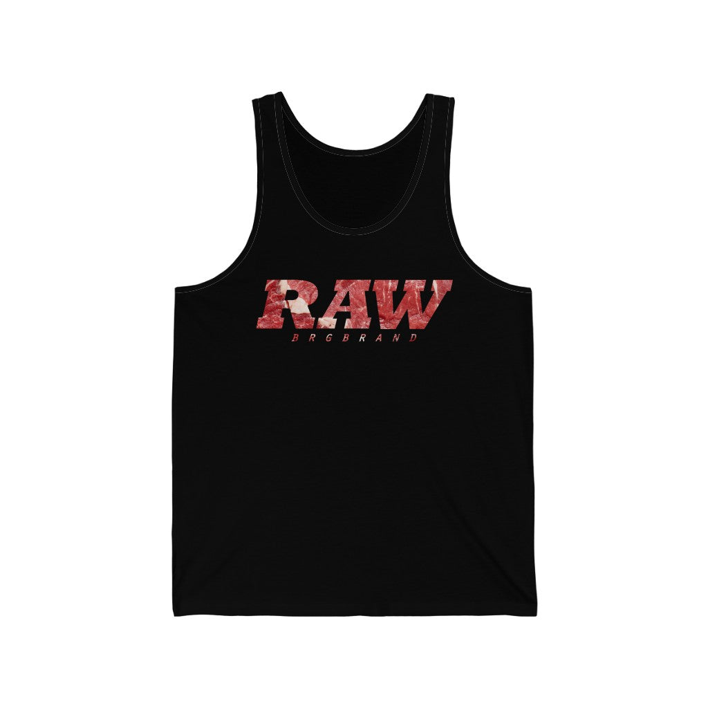Unisex Jersey Tank Raw Meat Real Men Steak Gift Top