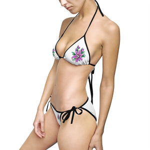 Women's Bikini Swimsuit Tattoo Flower Skull Gift