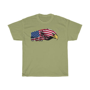 Unisex Heavy Cotton Tee American Usa Flag 4 July 2020 The Eagle T shirt