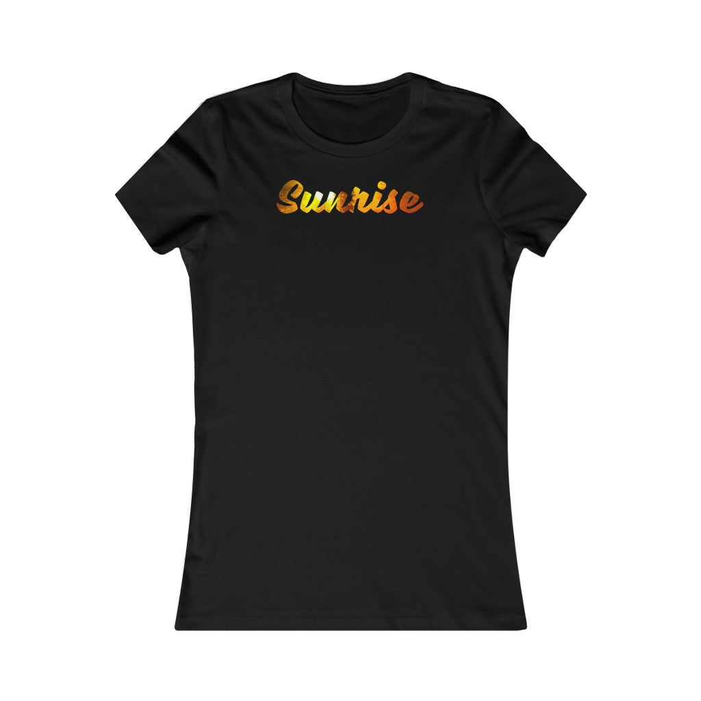 Women's Favorite Tee Sunrise Sunset Time Sun Graphic T Shirt