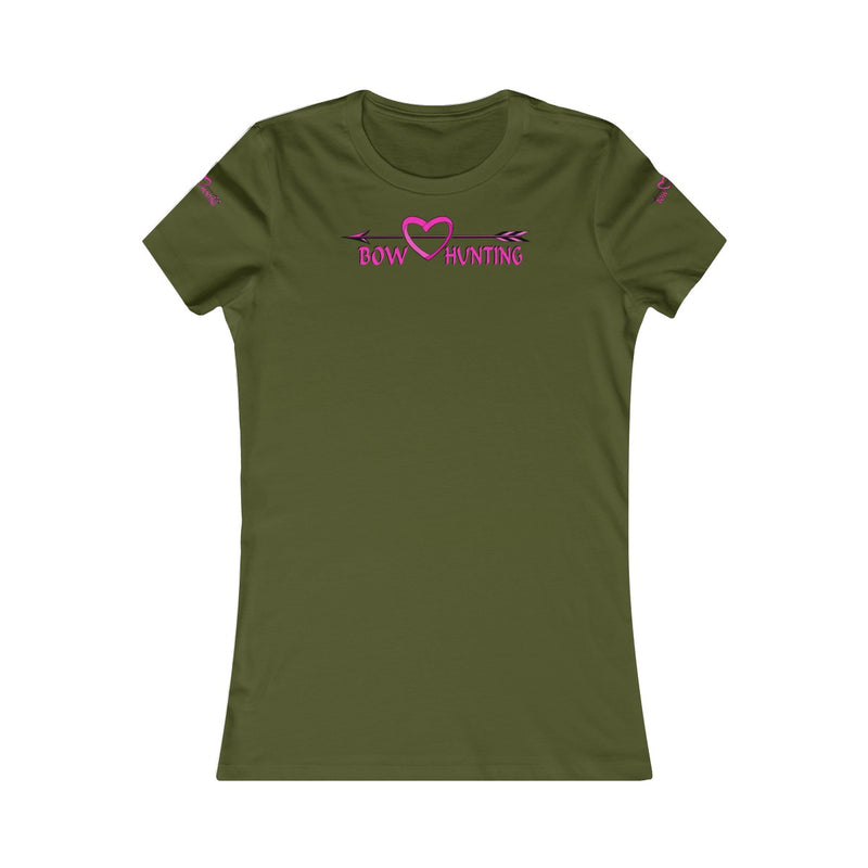 Women's Favorite Tee Love Bow Hunting Pink Hunt Wear Ladies Gift