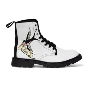 Women's Canvas Boots Tattoo Swallow Live Gift