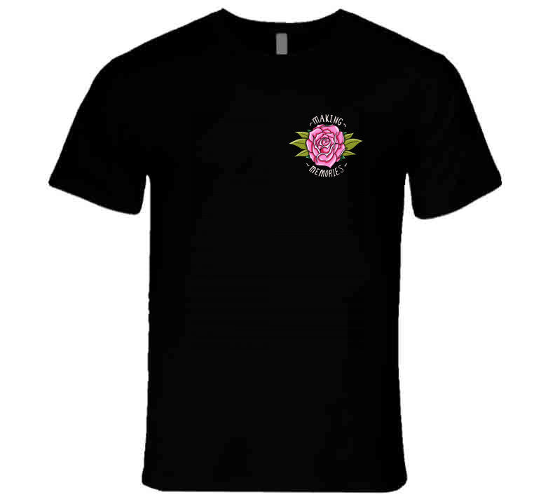 Tattoo Making Memories Small Pink Rose Gift T Shirt