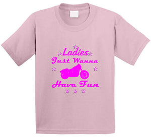 Ladies Just Wanna Have Fun Bike T Shirt