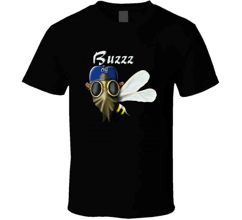 Buzz Off Gangster Rebel Wasp Comic Cartoon Gift Hunt Wear Clothing Long Sleeve