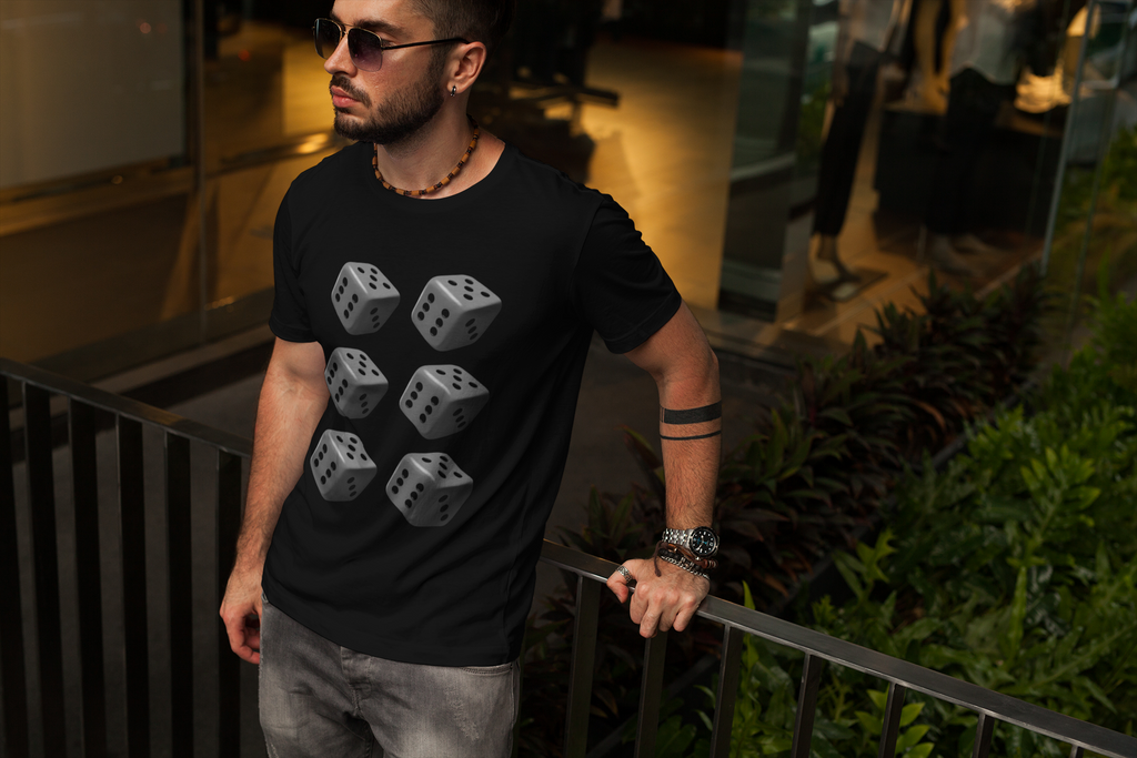 6 Dice Casino Game Play Lucky Gamble Urban Gift Fashion Design Clothing T Shirt