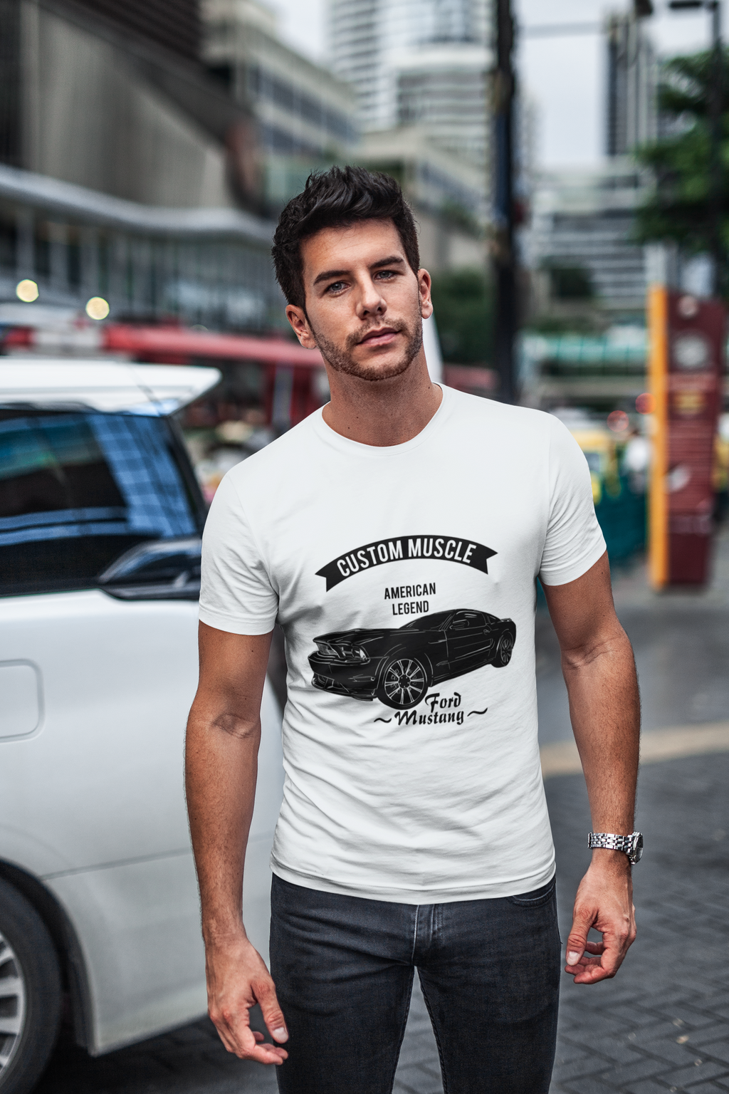 Ford Mustang American Muscle Legend Cars Lover Gift Long Sleeve