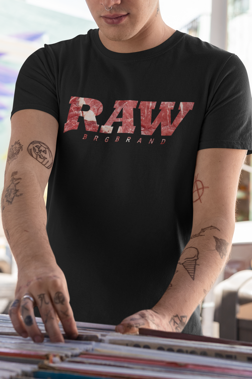 Unisex Heavy Cotton Tee Raw Meat Hard Men Steak Tshirt