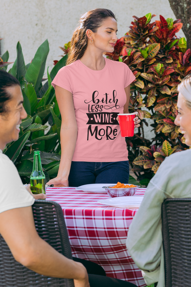 Bitch Less Wine More Party Country Cast 2020 Funny Gift Ladies T Shirt