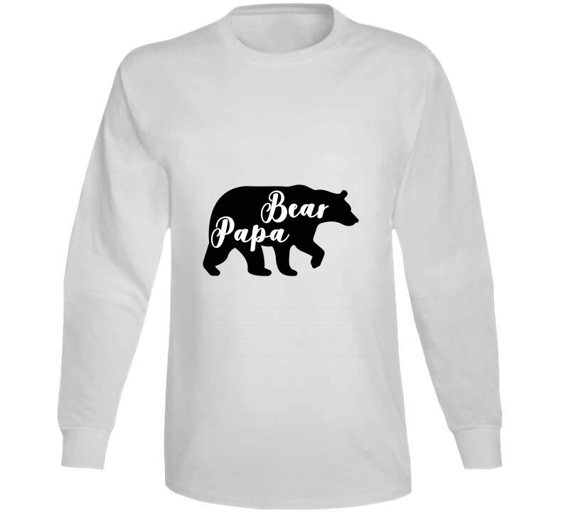 Papa Bear Father Animal Wild Fathersday 2020 Gift T Shirt