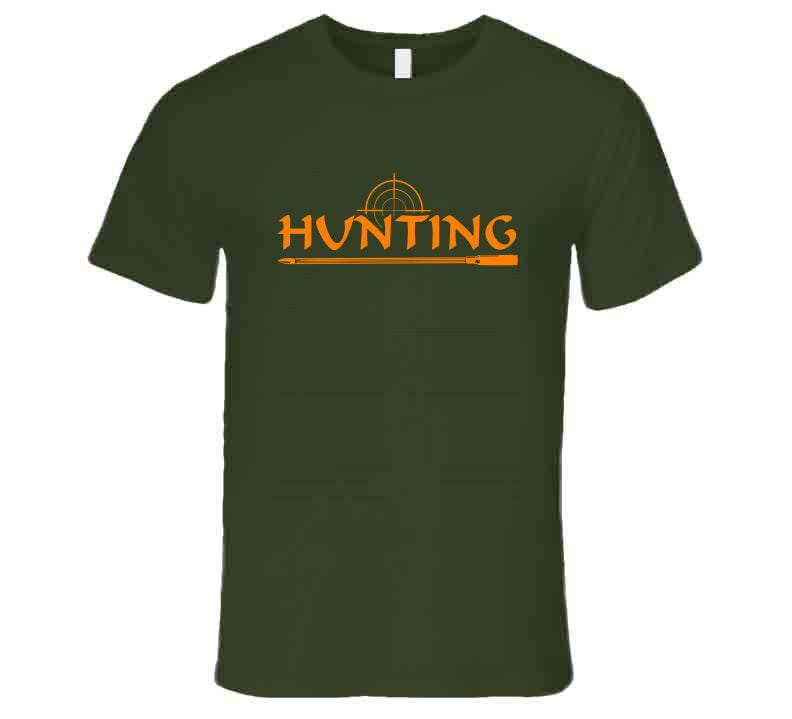 Hunting Hunters Orange Lover Hunt Wear Clothing Gift T Shirt