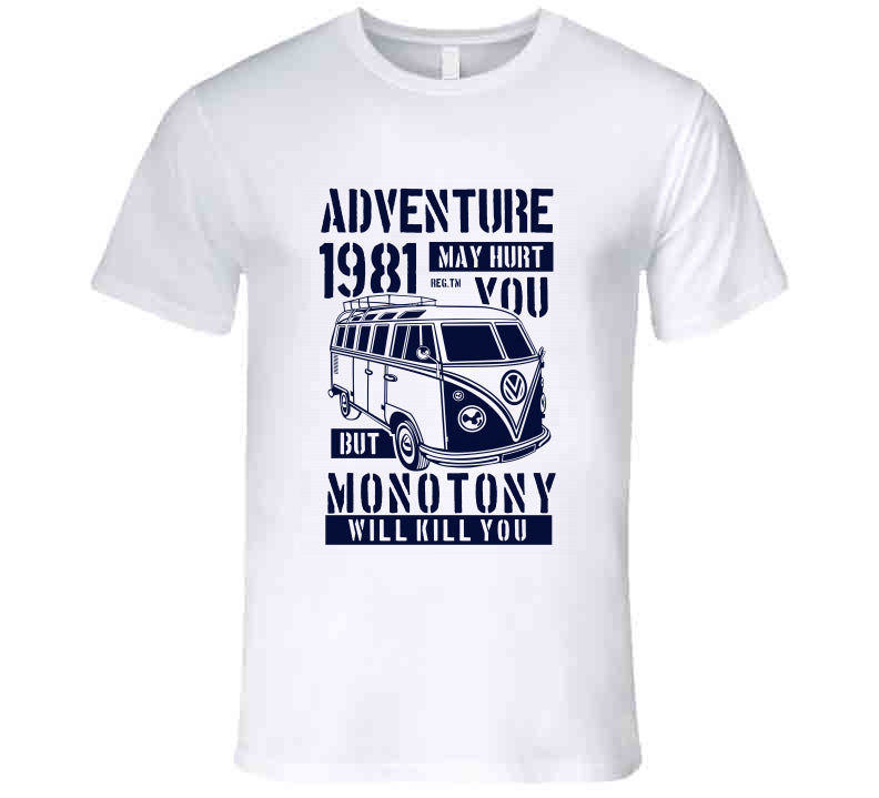 Adventure Bulli Van Bus Love Funny Gift T Shirt