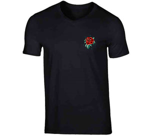 Tattoo Oldschool Red Rose Gift Ladies T Shirt
