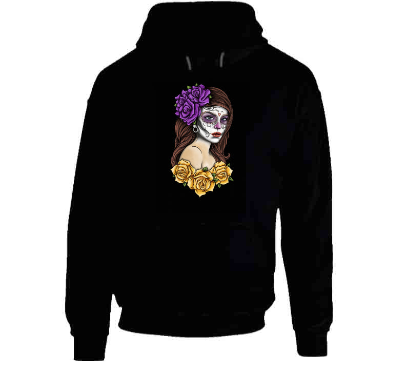 Tattoo Oldschool Black Los Muertos Rose Lover Gift T Shirt