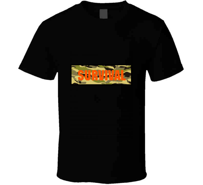 Survival Outdoor Nature Camo Lover Gift T Shirt