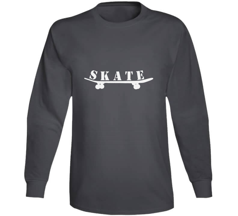 Skate Into Boarding Board Clothes Skateboard Go Day  Love Gift T Shirt