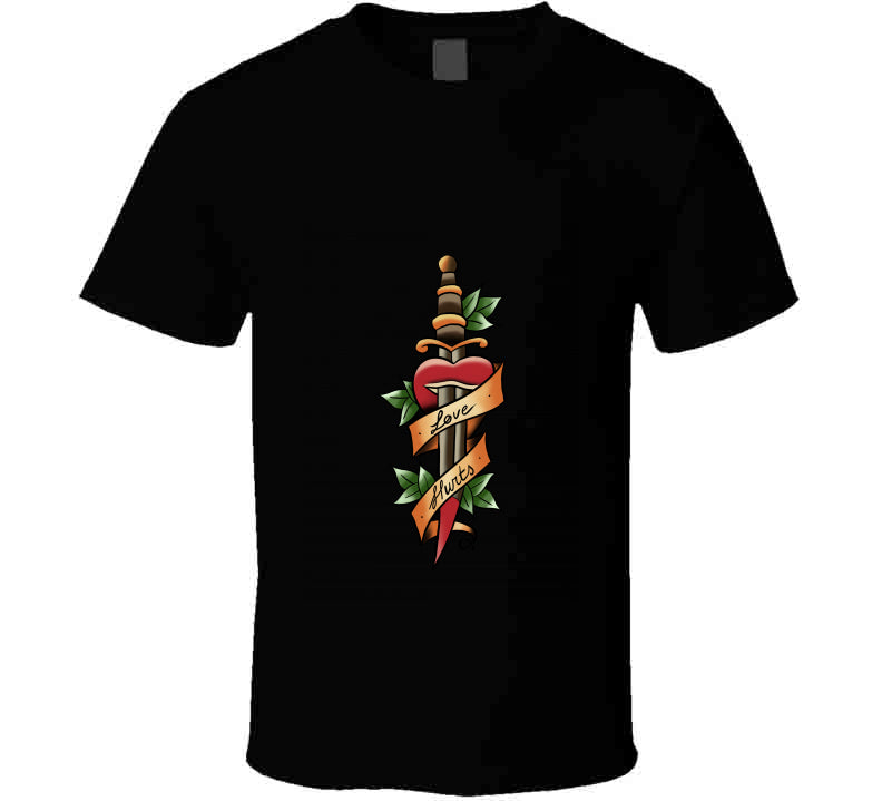 Tattoo Oldschool Love Hurts Gift T Shirt