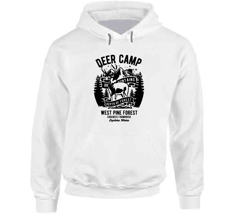 Deer Camp Hunting Forest Outdoor Lover Hunt Wear Clothing Gift T Shirt