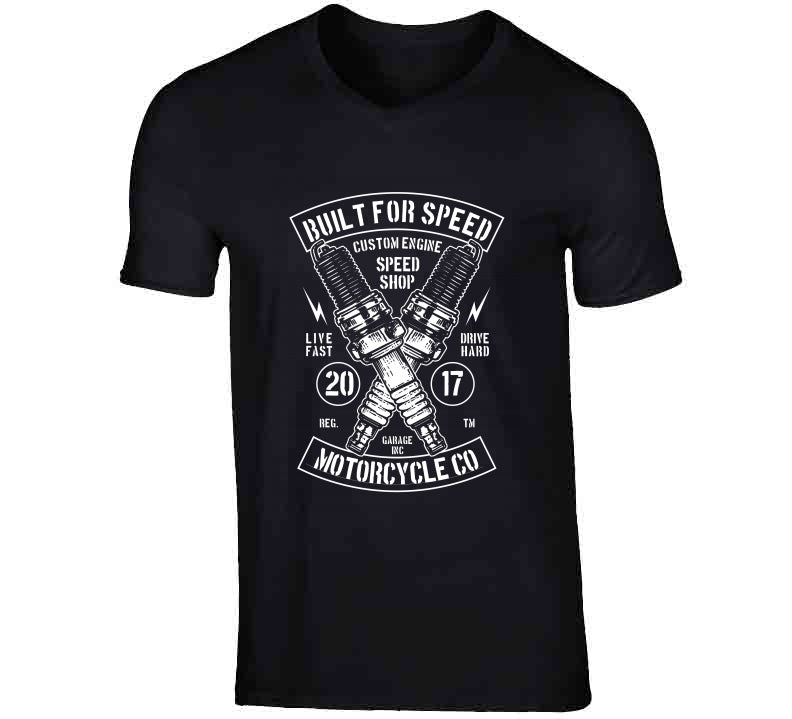 Built For Speed Motorcycle Biker Speed Vintage Lover Gift T Shirt