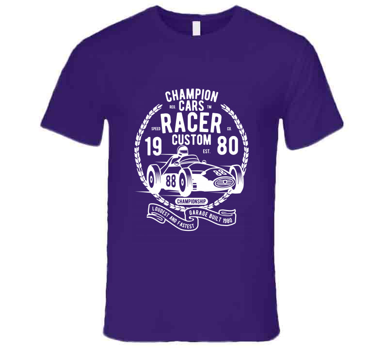 Champion Car Race Vintage Champion Gift T Shirt
