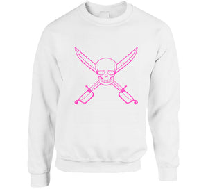 Pink Pirate Skull Girl Party Theme Gift Ladies T Shirt