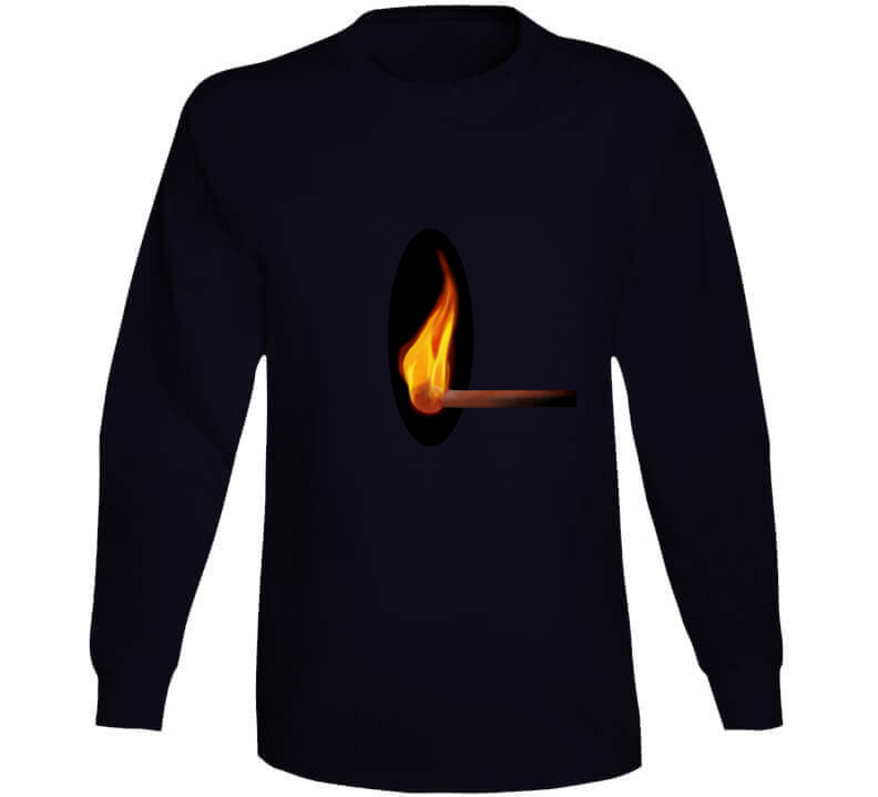 Match Fire Firefighter Fasion Light Dark Gift T Shirt