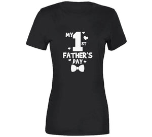 My First Father's Day Father Dad Papa Gift T Shirt