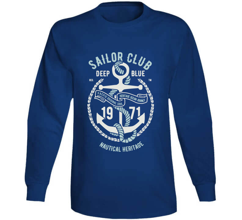 Sailor Club Sailing Deep Blue Yacht Crew Vintage Gift Hoodie