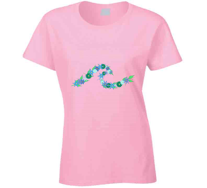 Flower Wave Surfen Beach T Shirt