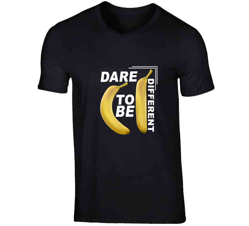 Dare To Be Different Nerd Black Style Gift Graphic Design T Shirt