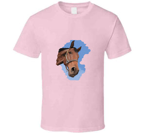 Horse Brown Riding My Lover Gift Horsewoman Fashion Art  T Shirt