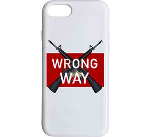 Wrong Way M16 Gun Weapon Sport Zombie Defence Red Guns Love Gift T Shirt
