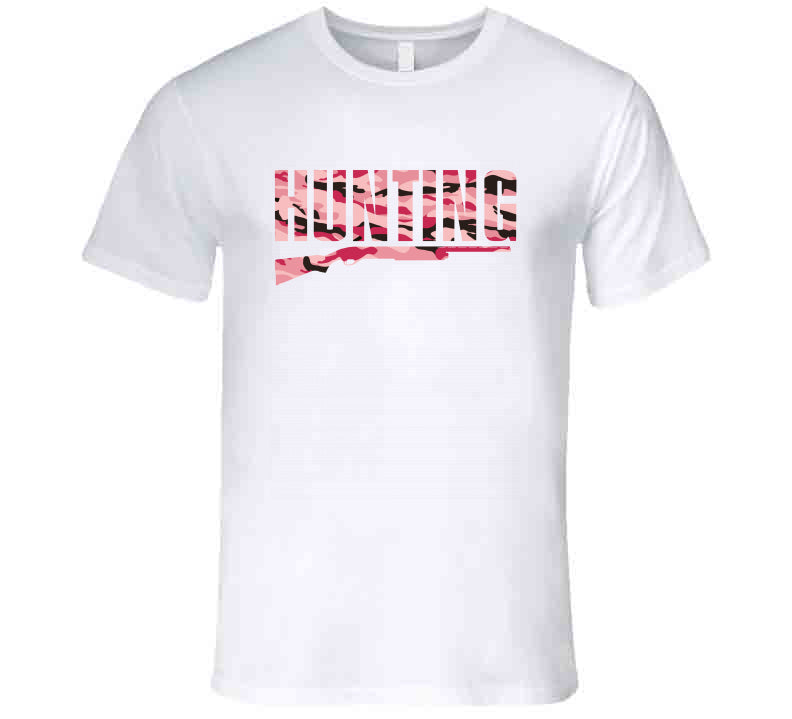 Hunting Pink Camo Huntress Gift Hunt Wear Clothing Ladies T Shirt