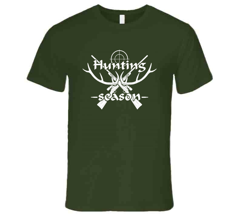 Hunting Season Time Antlers Hunt Wear Clothing Lover Gift T Shirt