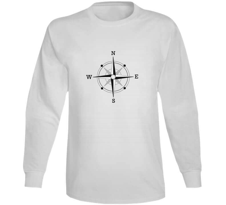 Compass Captain Sailing Yacht Lover Gift T Shirt