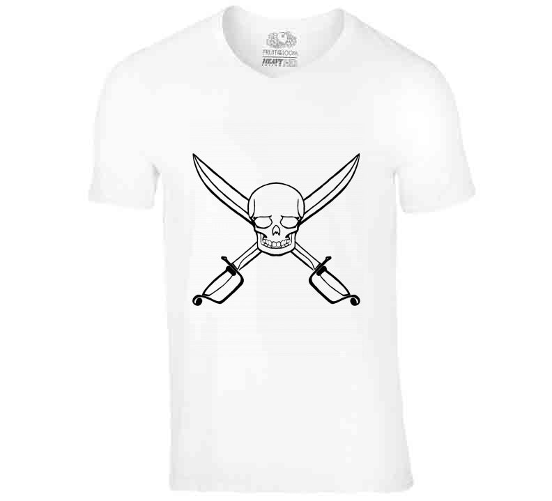 Pirate Skull Sword Party Treasure Fan Gift T Shirt