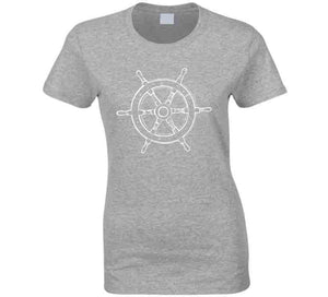 Captain Ship Wheel Yacht Sailing Wear Gift T Shirt