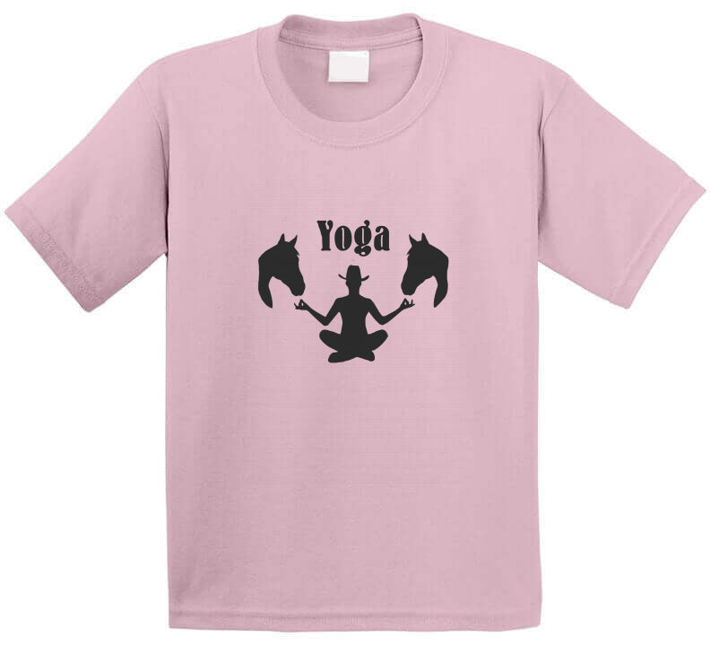 Yoga Cowgirl Western Meditation wear Horse Chill Ranch style Gift T Shirt