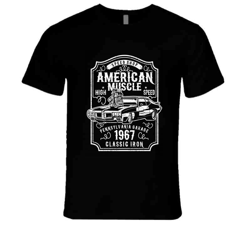 American Muscle Speed Shop Car Lover Gift T Shirt