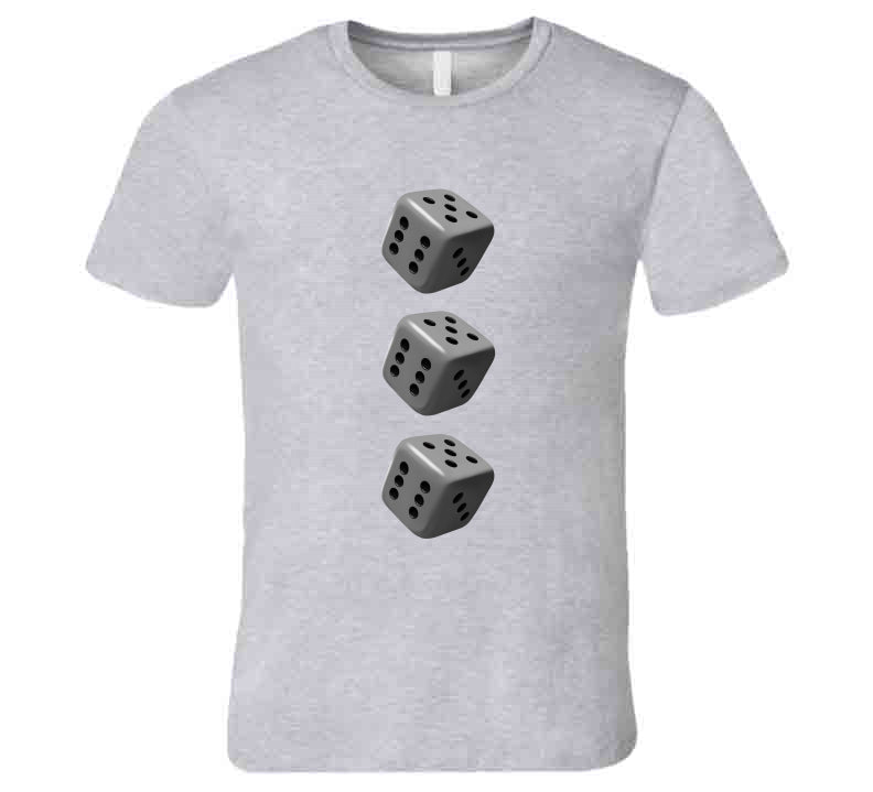 3 Dices Dice Cube Casino Game Player Love Gift T Shirt