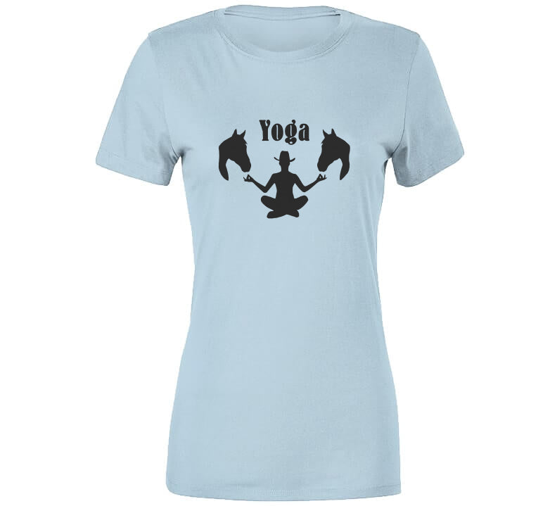 Western Yoga Horse Chill Cow Girl Boy Ranch Love Life Gift T Shirt