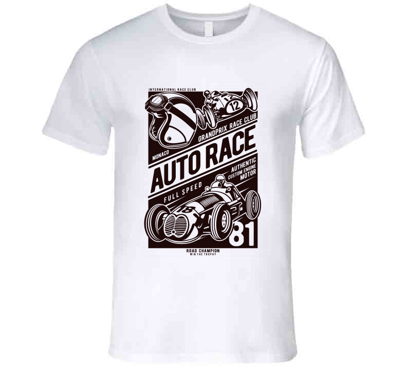 Auto Race Car Full Speed Lover Gift T Shirt