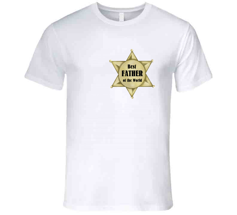 Best Father of the WorldSherrif Star Fathersday 2020 Western Texas Gift T Shirt