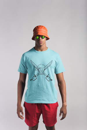 Pirate Skull Beach Party Wear Gift T Shirt