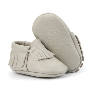 Gray Baby Moccasins
